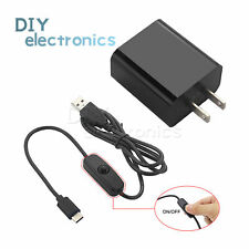 Usb Type-C Power Supply Adapter Charger For Raspberry Pi 4 Model B Dc5V 3A Us