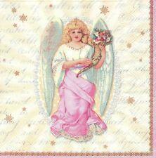 2 Serviettes en papier Anges de Noël Decoupage Paper Napkins Holy Angel