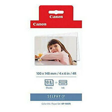 """Canon Original KP-108IN 4""""x6"""" Color Photo Paper&Ink Kit for SELPHY CP910 CP900"""