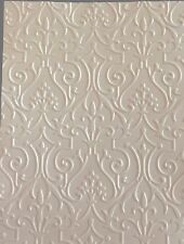 """STAMPIN' UP +  (3) EMBOSSED CARD FRONT, BACKGROUND. 5""""X7"""" IN WHITE. FOUNDRY."""
