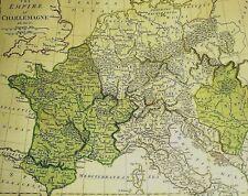 THE EMPIRE OF CHARLEMAGNE teil-kolorierter.Kupferstich 1801 von E. BOURNE