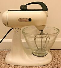 KitchenAid HOBART STAND MIXER Vintage Model 3B w/ BEEHIVE Glass BOWL & 2 Beaters