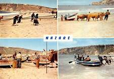 Portugal Nazare Beach Fishing Boats Bateaux Playa