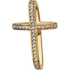 ( G-H , SI1) Cruz Diamante 45.7cm Collar en 14k ORO AMARILLO ( 1/4 Ct. TW