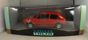 """Vitesse V18202 ◊ Volkswagen Golf 1 Gti 1976 """" Red """" ◊ 1/18 Inbox / IN Box ◊"""