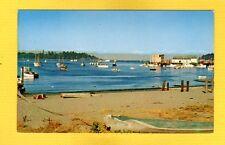 Neah Bay,WA Washington,Old Dugouts contrast colorful fishing boats