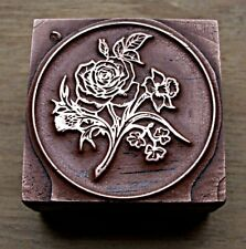 """ROSES"" ROUND BOOKPLATE Printing Block.."