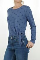 New from Fat Face L/Sleeve Carlotta Daisy Tie Front Top Blue RRP £36 Now £17.50