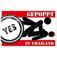 Aufkleber - GEPOPPT in Thailand - 12 cm - sticker - sex sexy poppen Trend