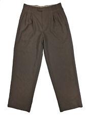 Zanella Mens Pleated Front Brown Acetate Rayon Blend Dress Pants Size 31x30