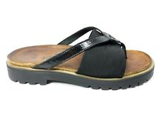 Naot Orion Womens Size 38 US 7 Thong Sandals Black Slides Slip On Casual Dress