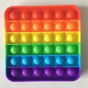 Push Pop Bubble Sensory Fidget Toy it Stress Relief Autism Kids Square Special