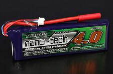 Turnigy nano-tech 4000mAh 3S 1.11v 25C 50C Lipo Akku Pack HXT 4mm Bullet