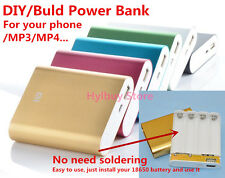 DIY USB 5V  Mobile Power Bank Charger for Xiaomi Phone Tablet MP4 18650 Battery