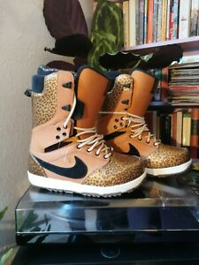Nike Danny Kass Zoom Force RARE Black & Gold Leopard print Snowboard Boots UK8