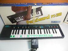 Vintage YAMAHA Portasound PS-200 Keyboard Synthesizer 80's Synth w/ Box, Adapter
