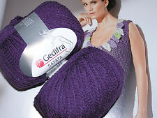 650 G satata violet aubergine coton nature laine smc select Gedifra 06506