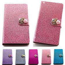 Glitter Rhinestone Book Style Mobile Phone Bag Flip Cover schuz Sleeve Pouch Case m221