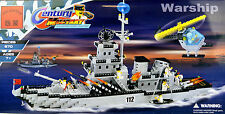 970+ Pieces Missile Destroyer Warship With Helicopter Brick Game Enlighten Brand