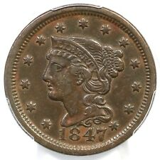 1847 N-2 R-3 PCGS XF 45 Braided Hair Large Cent Coin 1c