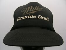 MILLER GENUINE DRAFT - VINTAGE 1980's - ONE SIZE SNAPBACK BALL CAP HAT!