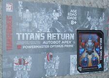 Transformers Titans Return POWERMASTER OPTIMUS PRIME Manual Bio Card