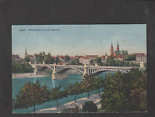 View of Wettstein Bridge, Basel, Switzerland