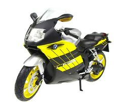 BMW K1200S 1/12 Yellow Diecast Motorcycle Model M65