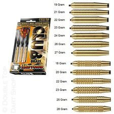 Harrows Club Brass Steel Tip Darts - Full Set - Knurled or Ringed - 18g to 28g