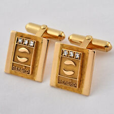 Rare Pepsi Cola Cufflinks 10K Solid Accents Diamonds & Authentic with LOGO