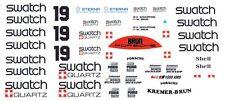 #19 swatch Porsche 956-962 1/32nd Scale Slot Car Decals