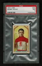 PSA 7 BOBBY ROWE 1911 C55 Hockey Card #23  (Only 3 Cards Graded Higher)