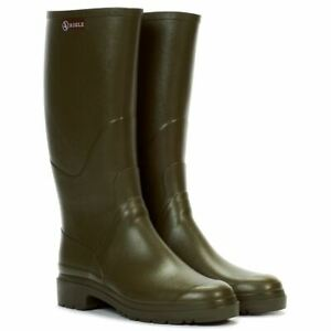 Aigle Mens Chambord Pro 2 Boots Quick Dry Green Welly Wellies Wellington Boot