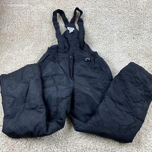 slalom womens medium solid black snowsuit snow pants outerwear