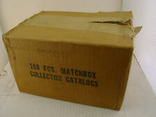 1979-80 MATCHBOX LESNEY SUPERFAST 100 PCS COLLECTOR CATALOGS FACTORY SEALED CASE