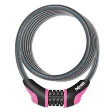OnGuard Doberman Portable Combo Bike Cable Combination Lock 120cmx8mm PINK