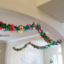 Garland Tropical Hawaiian Luau Party Decorations Flowers Tissue Flower*3M WH3