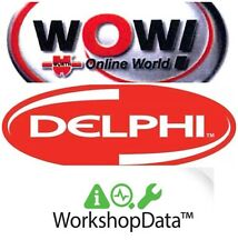 3 X Diagnostic/data Software Bundle Obd2 Obd Wow Deal Delphi Haynes