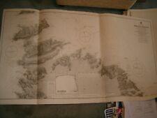 Vintage Admiralty Chart 2063 MALTA ISLAND - NORTHERN PORTION 1921 edition