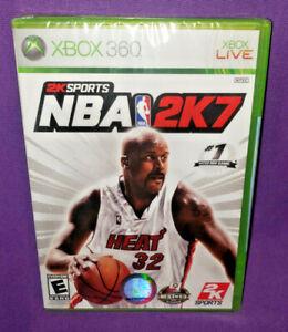 NBA 2K7 Microsoft Xbox 360 2006 Shaq Basketball Sports NEW SEALED