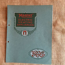 """General Electric Co. """"Magnet"""" Electical Heating Appliances. Catalogue/Prices1926"""
