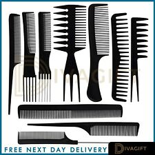 Salon Style Hair Comb Set of 10 Assorted Pieces Hair Brush Men Women Kids Young