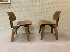 Early Pair Of Charles Eames Laminated DCW Chairs