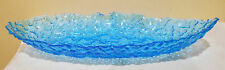 RETRO GLASS VASE -BLUE GLASS 40 CM LONG
