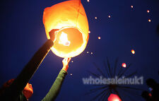 10 White Chinese Sky Lanterns UFO Balloon Fay Kong Ming Fire Flying Floating