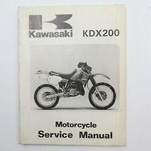 Kawasaki KDX200 Factory Motorcycle Service Manual Repair Book