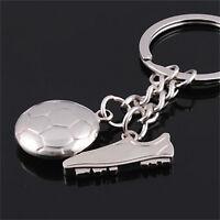 Football Soccer Boot Silver Metal Keychain Keyring Keyfob Creative Key Chain #H