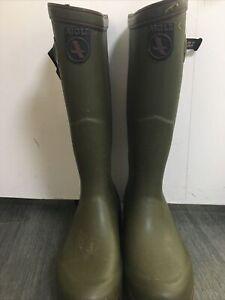 Aigle Parcours 2 ISO Open Green Wellington Mens Size EU40(Read Description)