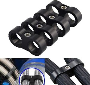 4 x AN6 6AN AN -6 Nylon Braided Stainless Fuel Oil Line Hose Separator Clamp
