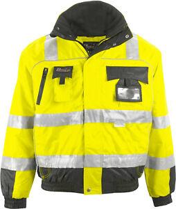 Arbeitsjacke Warnpilotjacke Warnschutzjacke Pilotenjacke Winterjacke Warnschutz
